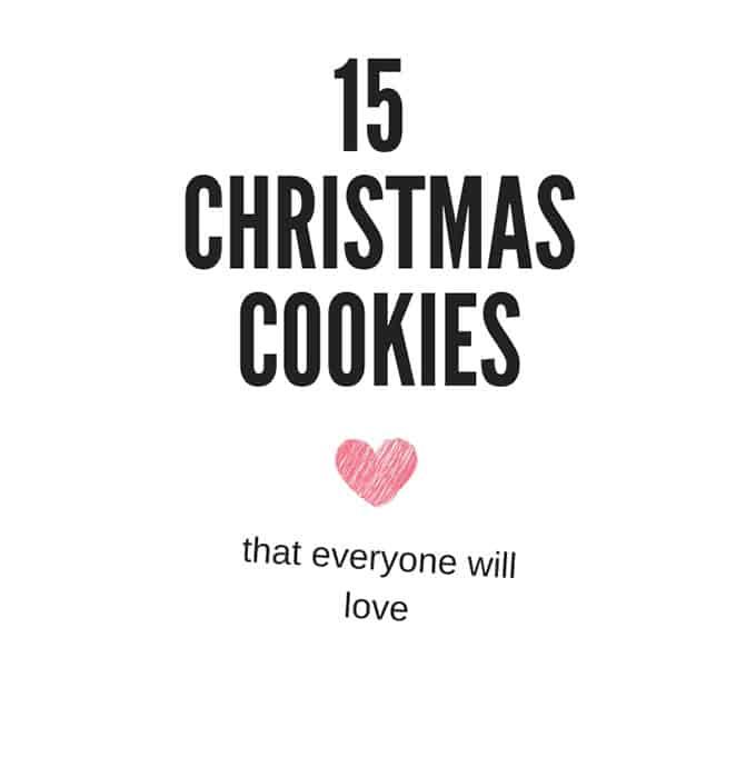 Text saying 15 Christmas Cookies