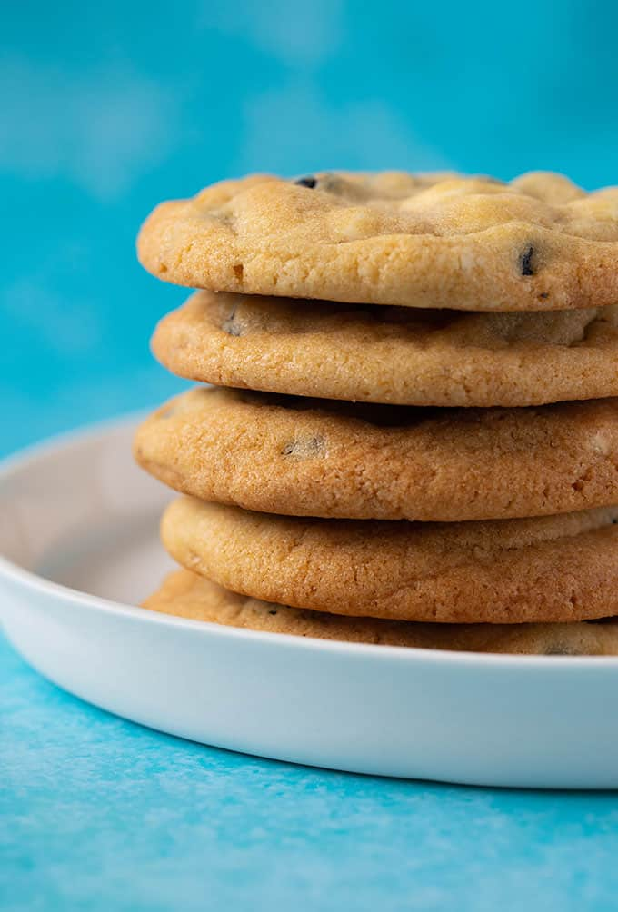 A stack of homemade Blueberry Cookies