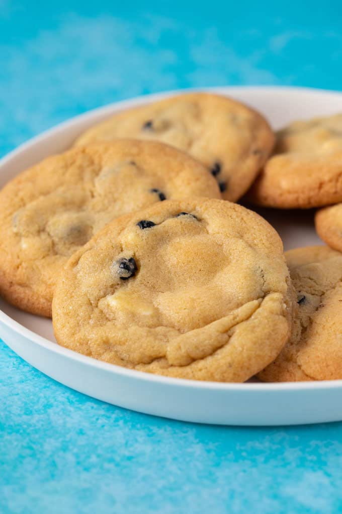 Close up of a homemade Blueberry Cookie