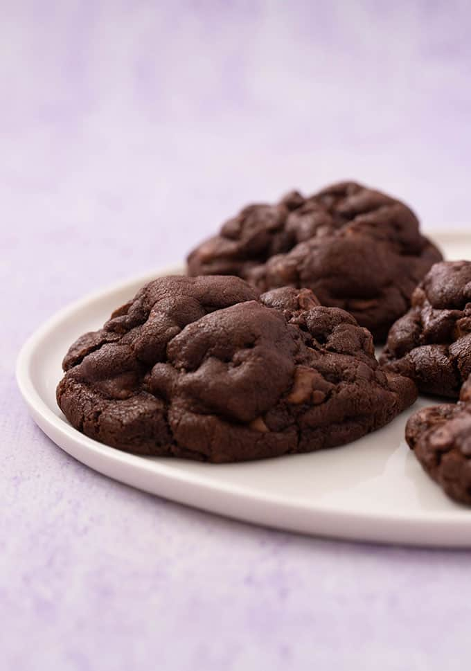 Close up of a homemade thick and chunks Chocolate Cookie