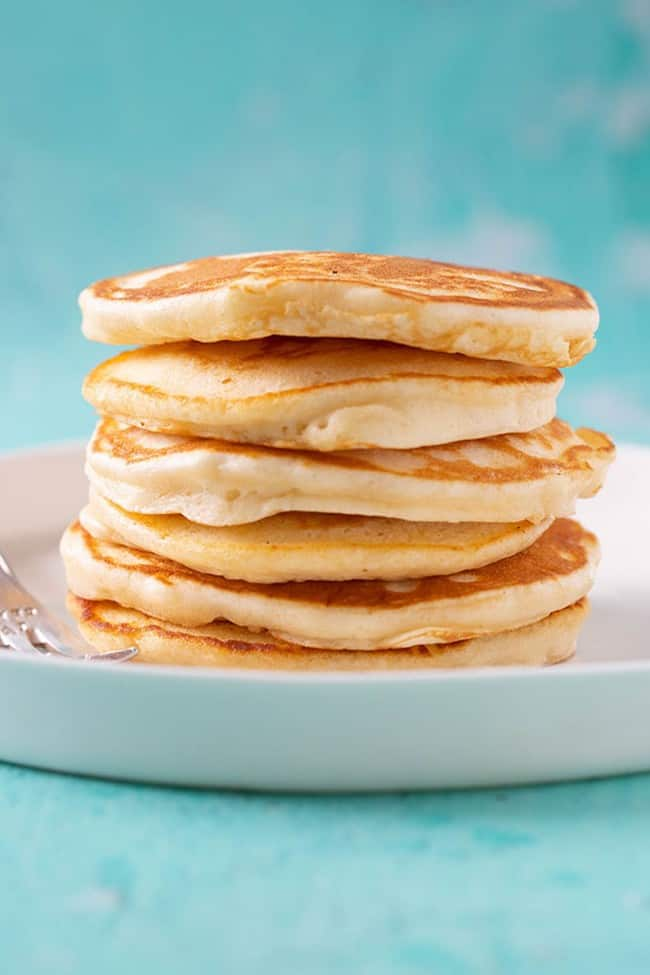 A stack of homemade pikelets