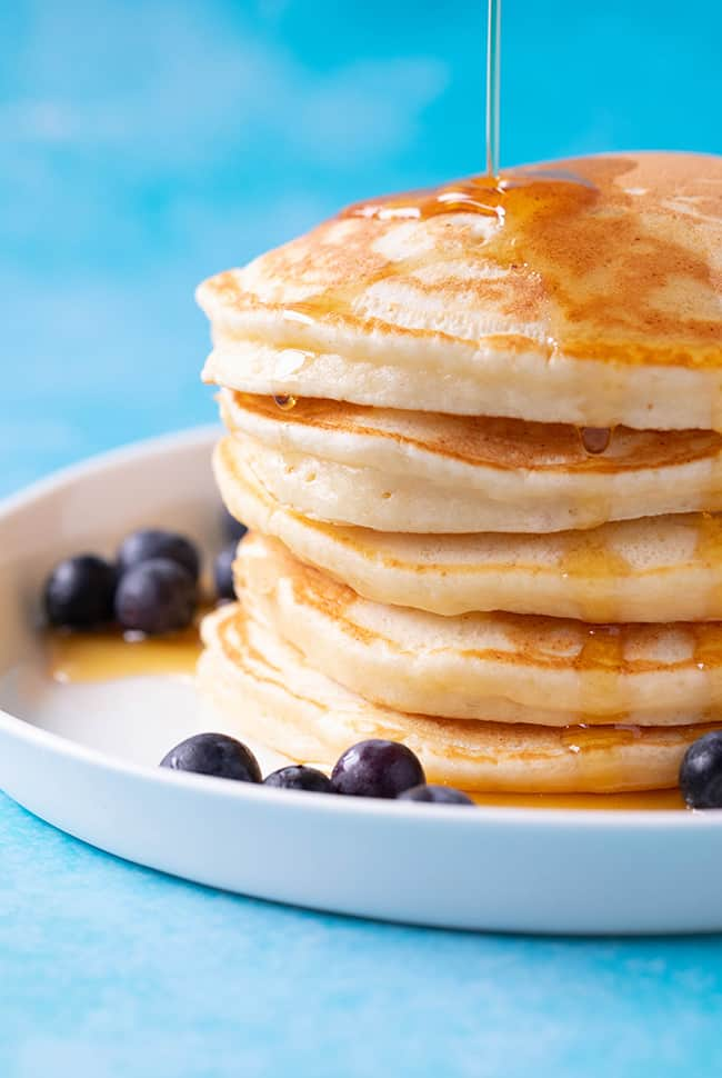 A stack of homemade Ricotta Pancakes