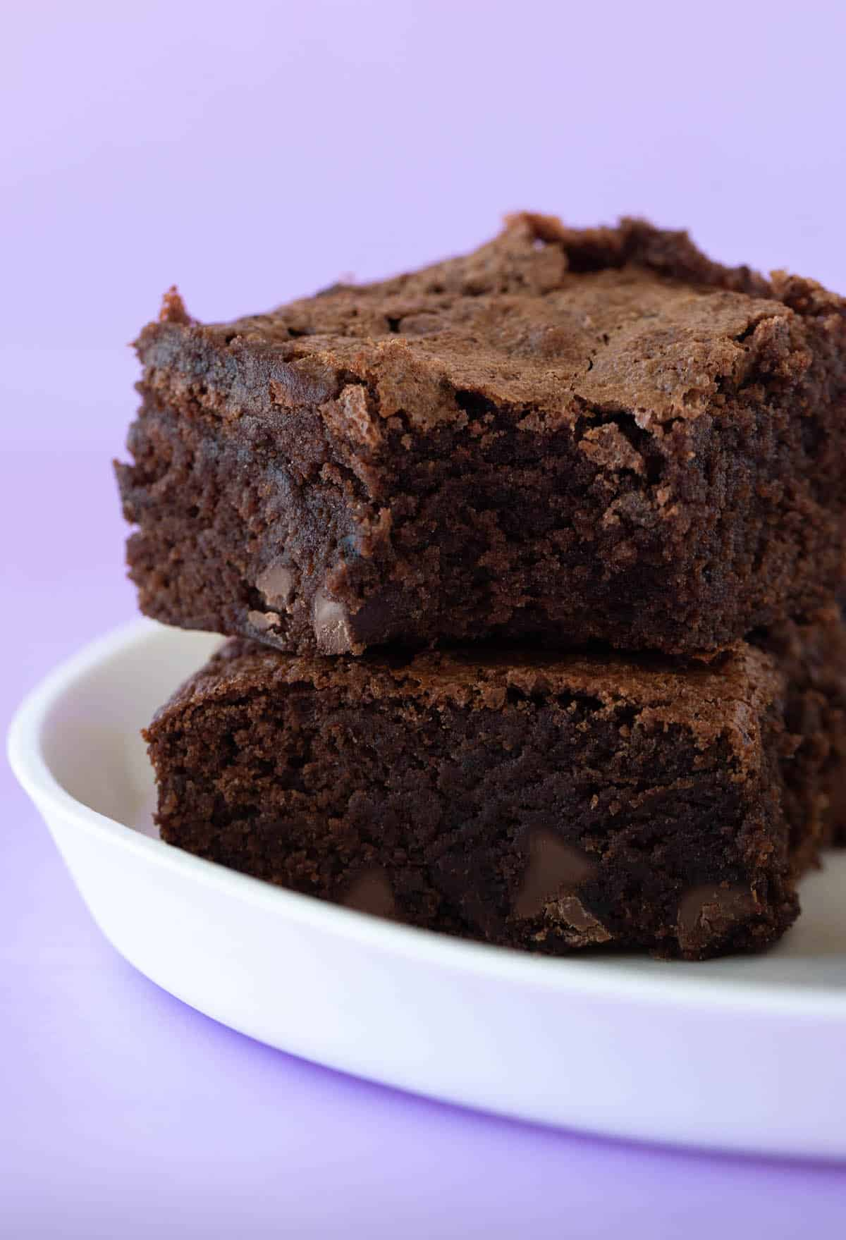 Cocoa Brownies with a bite taken out of it