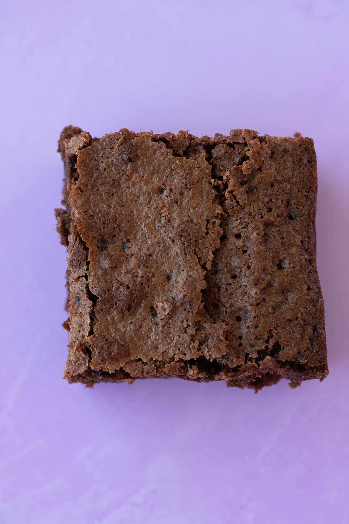 Close up of the crinkly top of a Cocoa Brownie
