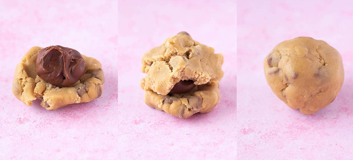 A step by step guide on how to fill cookies with nutella